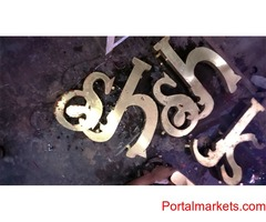 Pure Brass Sign Letters