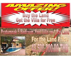Pratumnak Buy Land 5 Bedroom Villa Free