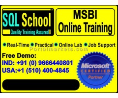 Complete Practical Online Training on SQL BI (IS, AS, RS) at www.sqlschool.com