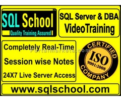 PRACTICAL SQL Server  DBA Video Training at SQL School Training Institute