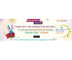 Diwali Offer : LEARN ANY 2 SAP COURSES @ 89 $  - ( Valid till 28th, October )