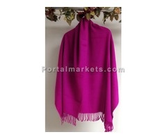 Pink wool shawls wraps for women at YoursElegantly
