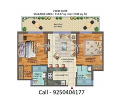 2 BHK Apartment | Central Park 3 Flower Valley the Room