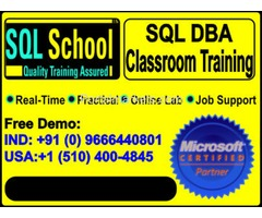 SQL Server 2014 +ACY- 2016  DBA  PRACTICAL REALTIME CLASSROOM TRAINING