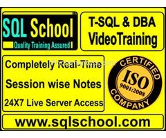 SQL Server 2014 & 2016 DBA PROJECT ORIENTED LIVE VIDEO TRAINING