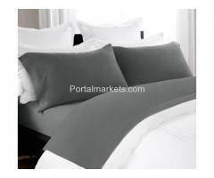 Shop Soft and 100% Cotton Melange Sheet Set Charcoal