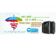 Get flat 40% off on all dedicated and cloud servers