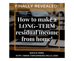 FINALLY REVEALED! How to make a LONG-TERM residual income from home!