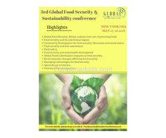 3rd Global  Food Security and Sustainability Conference, 2018