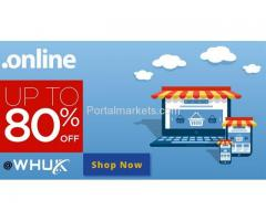 GET 80% Off On .Online Domain Extension
