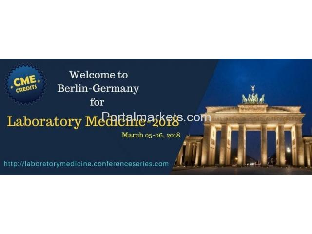 13th International Conference on Laboratory Medicine and Pathology 2018 | Berlin,Germany. - 1/3