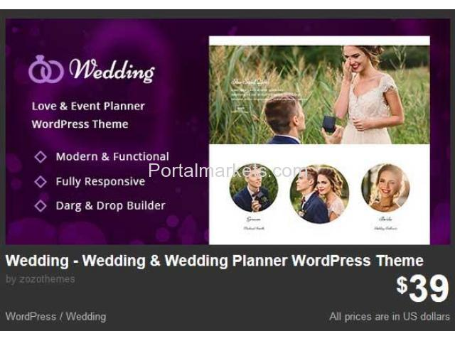 Wedding - Wedding & Wedding Planner WordPress Theme - 1/1