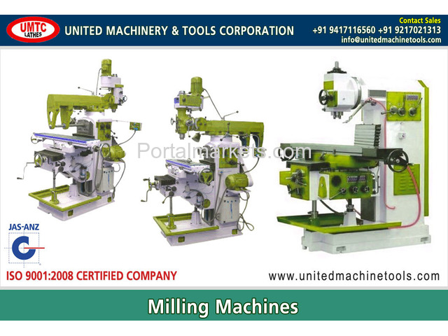 Milling Machines Manufacturers Exporters in India Punjab Ludhiana - 1/4