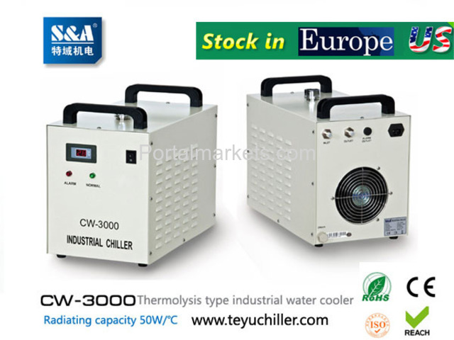 S&A water-cooled chiller CW-3000 AC220V, 50Hz for co2 laser or CNC spindle - 1/3