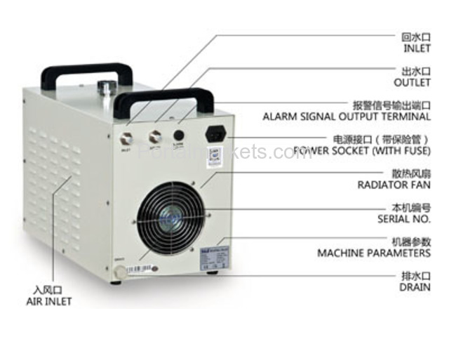 S&A water-cooled chiller CW-3000 AC220V, 50Hz for co2 laser or CNC spindle - 2/3