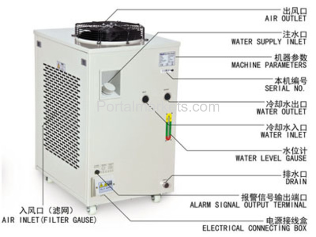 S&A recirculating water chiller CW-6000 AC220/110V, 50/60Hz - 3/3