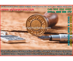 Notary Public Stamp in Kent Wa Seattle