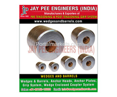 Barrels and wedges Manufacturers Suppliers Exporters in India
