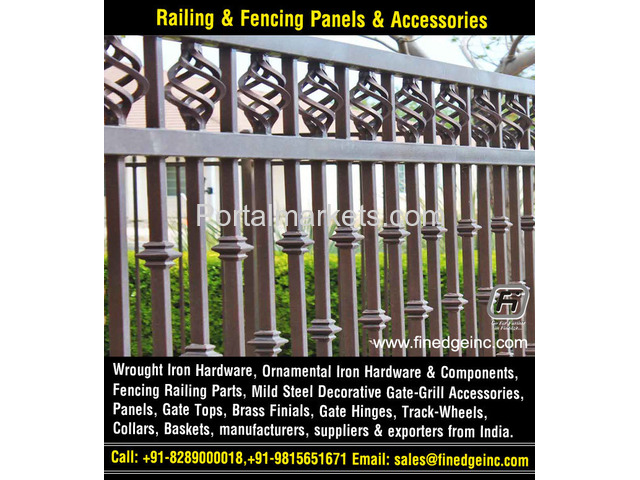 wrought iron hardware for gates manufacturers exporters suppliers India - 1/4