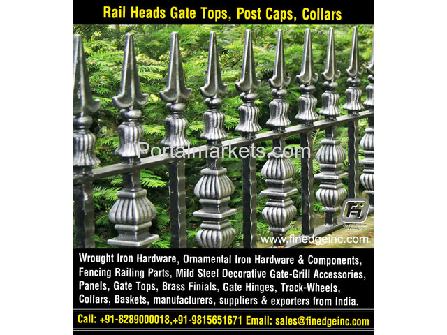 wrought iron hardware for gates manufacturers exporters suppliers India - 2/4