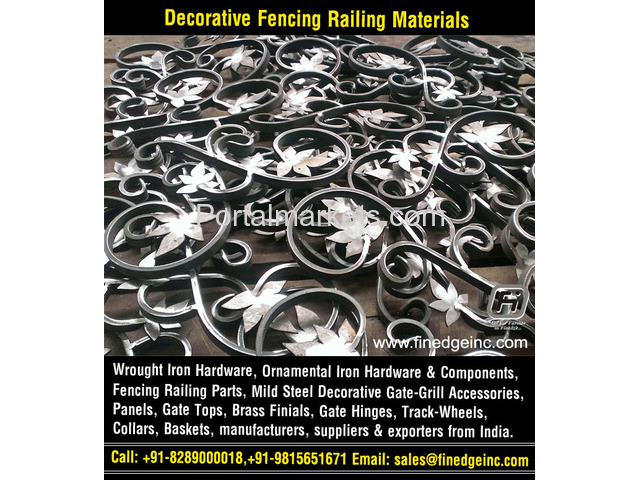 ornamental iron gates hardware accessories parts manufacturers exporters suppliers India - 1/4