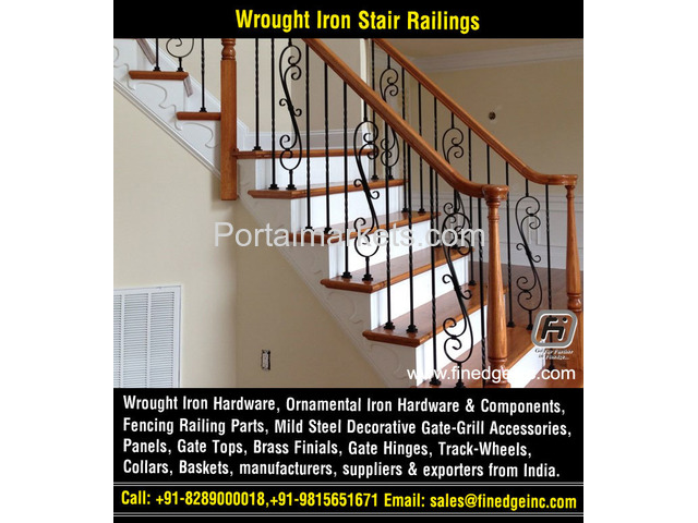 ornamental iron gates hardware accessories parts manufacturers exporters suppliers India - 4/4