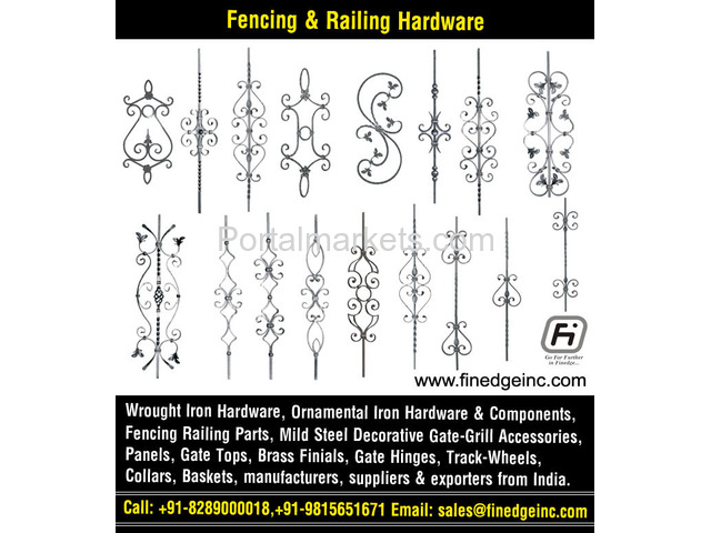 decorative metal fencing panels and accessories manufacturers exporters suppliers India - 1/4