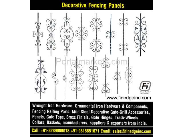 decorative metal fencing panels and accessories manufacturers exporters suppliers India - 2/4