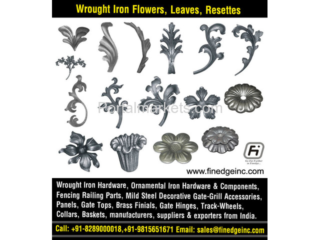 decorative wrought iron fence hardware manufacturers exporters suppliers India - 2/4
