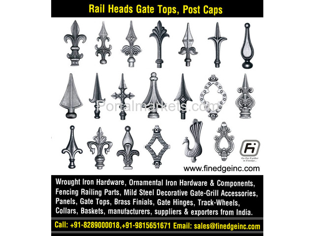 decorative wrought iron fence hardware manufacturers exporters suppliers India - 3/4