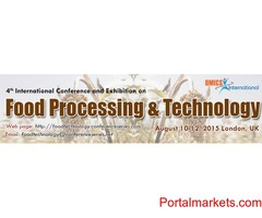 4th International Conference and Exhibition on Food Processing & Technology